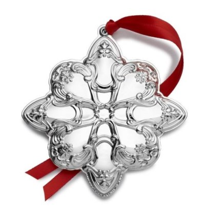 Gorham 2019 Sterling Silver 12th Edition Annual Chantilly Ornament