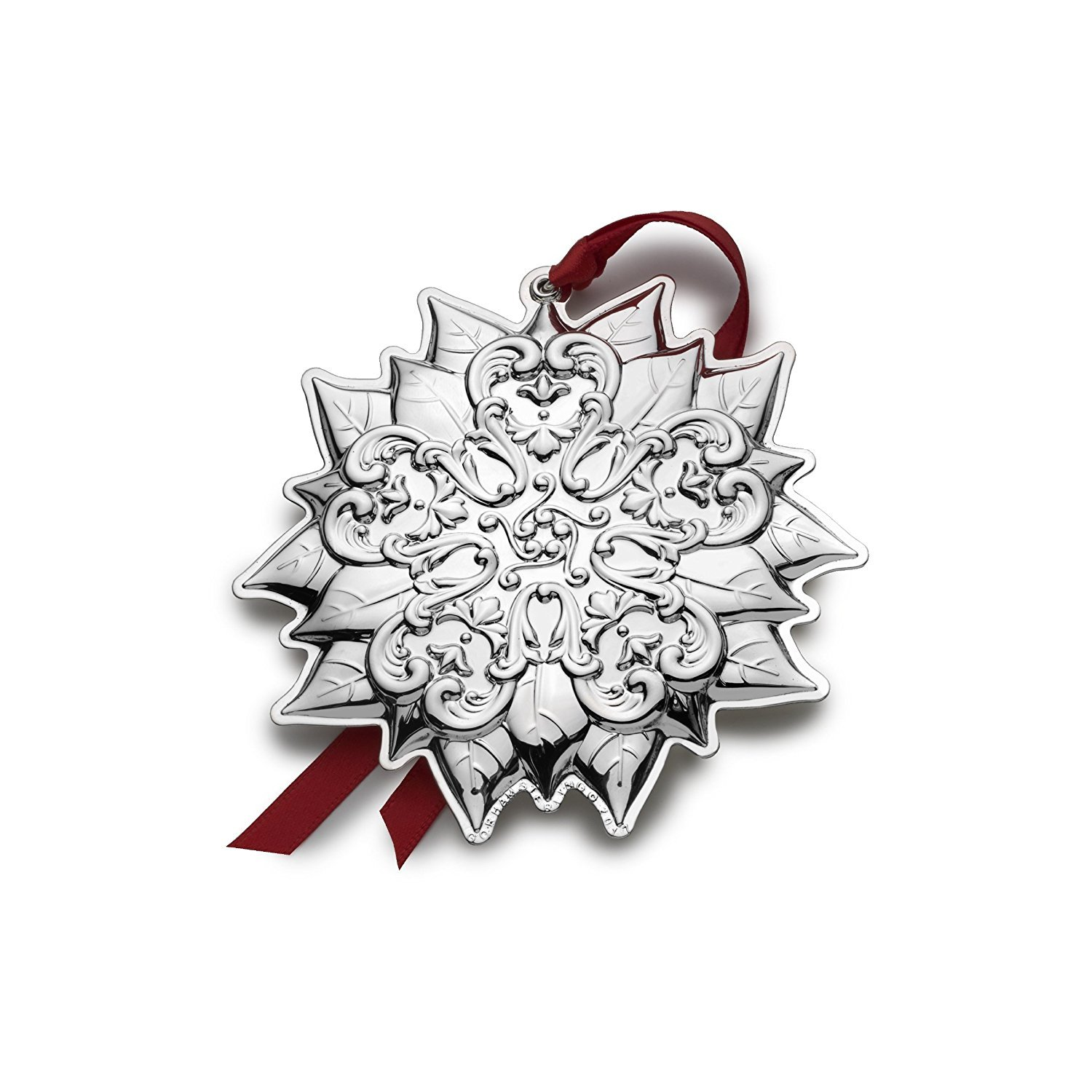 Gorham 2017 Gorham Chantilly Ornament (Poinsettia) - 10th Anniversary Edition