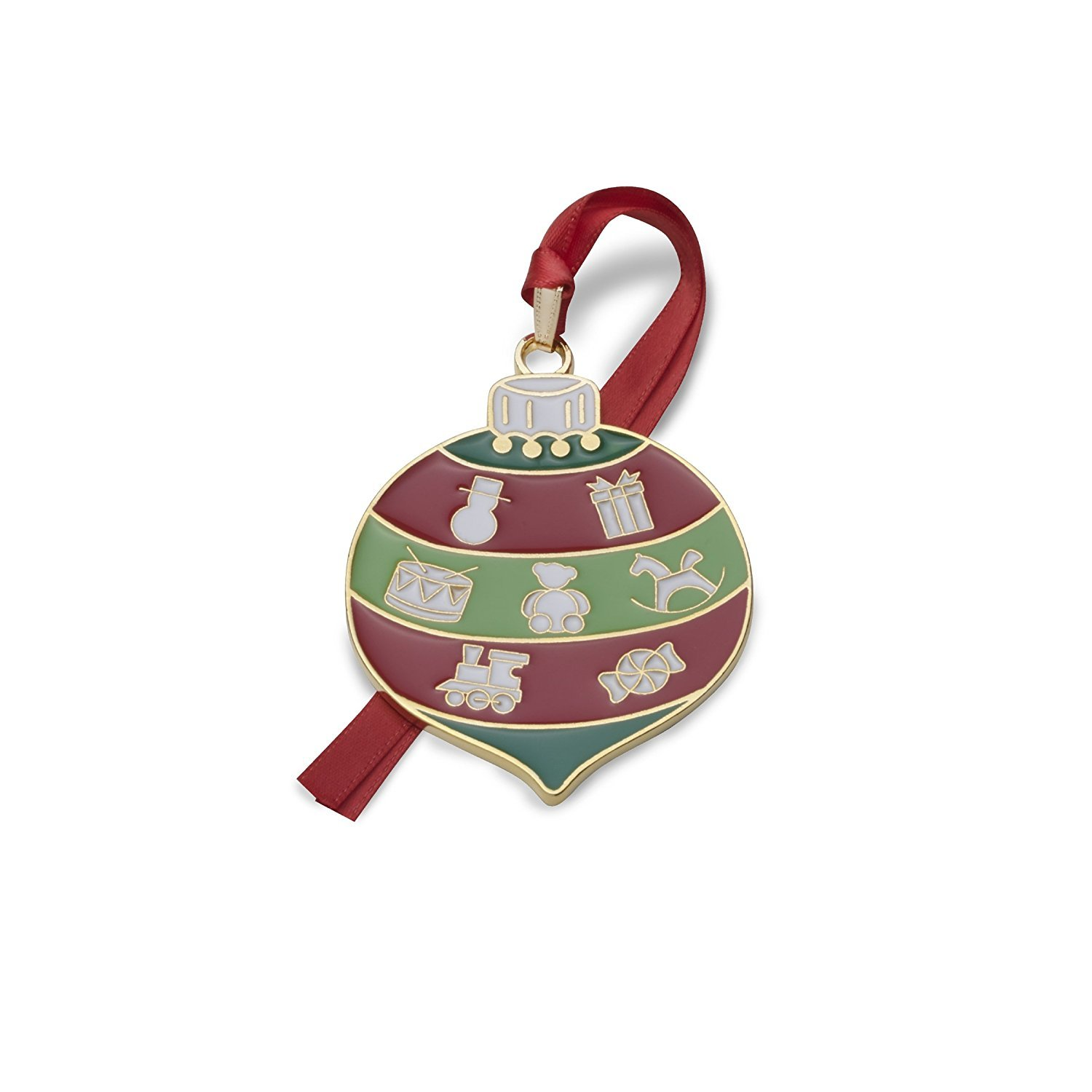 Wallace 2017 Gold-plated & Enameled Wonders of Christmas (Christmas Bauble ) 8th Edition
