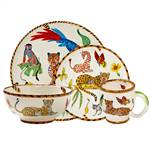 Lynn Chase Jungle Jubilee 16pc Dinner Set