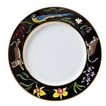 Lynn Chase Jaguar Jungle Salad Plate