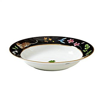 Lynn Chase Jaguar Jungle Rimmed Bowl