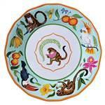 Lynn Chase Monkey Business Melamine   Dinner Plate, Set of 4