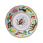 Lynn Chase Monkey Business Melamine Salad Plate, Set of 4