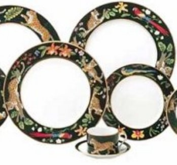 Lynn Chase Jaguar Jungle Dinnerware
