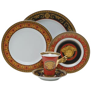 Versace Medusa Red Dinnerware Selections
