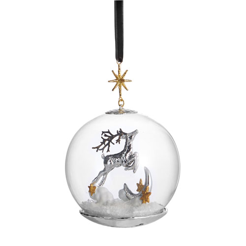 Michael Aram Reindeer Snow Globe Ornament