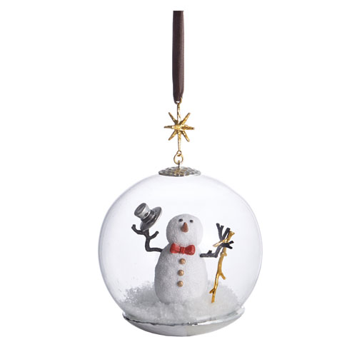 Michael Aram Snowman Snow Globe Ornament
