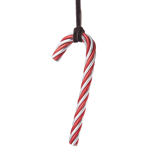 Michael Aram Twist Candy Cane Ornament Red