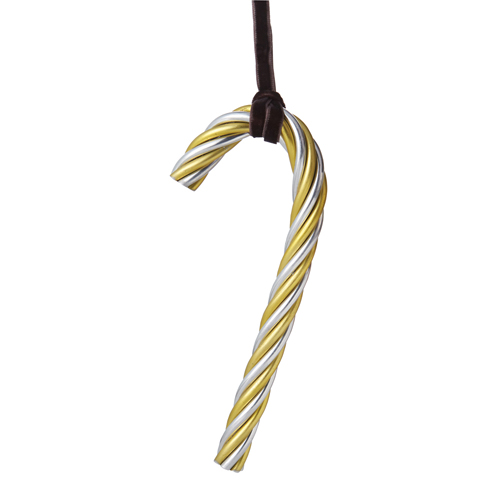 Michael Aram Twist Candy Cane Ornament Gold