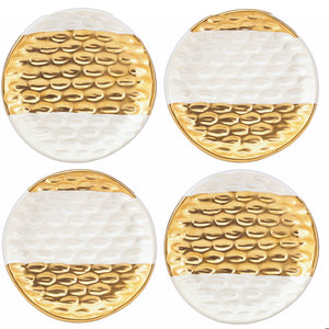 Michael Wainwright TRURO GOLD CANAPE PLATES set of 4