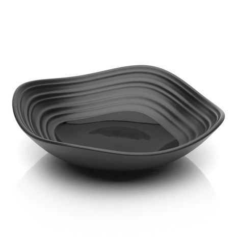 Mikasa SWIRL Square BLACK FRUIT- 6.5 IN