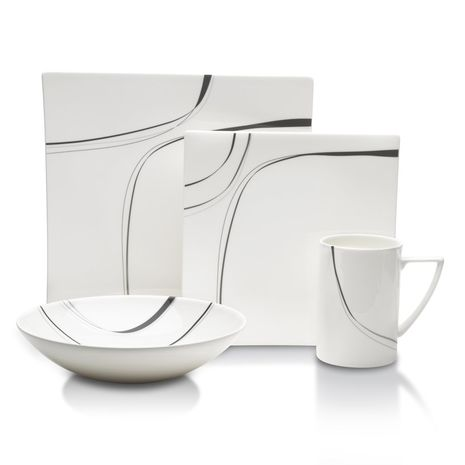 Mikasa MODERNIST BLACK 4Piece Place Setting