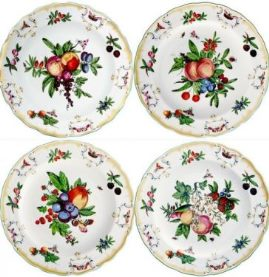 Mottahedeh Duke Of Gloucester Dinner Set Of 4