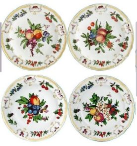 Mottahedeh Duke Of Gloucester Dessert Set Of 4
