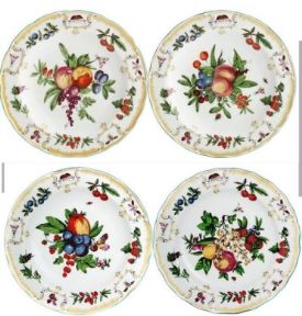Mottahedeh Duke Of Gloucester Bread And Butter Set Of 4