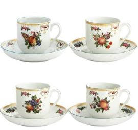 Mottahedeh Duke Of Gloucester Cup And Saucer Set Of 4