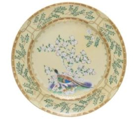 Mottahedeh Ching Garden Bread And Butter Plate