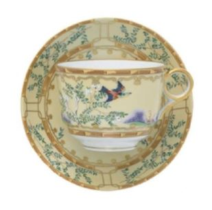 Mottahedeh Ching Garden Cup And Saucer