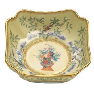 Mottahedeh Ching Garden Small Square Bowl