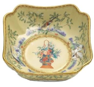 Mottahedeh Ching Garden Large Square Bowl