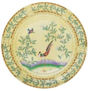 Mottahedeh Ching Garden Round Chop Plate