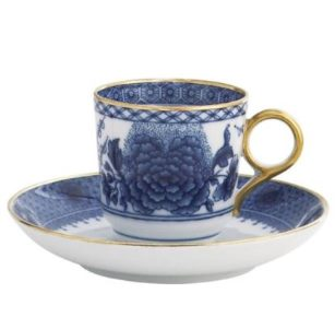 Mottahedeh Imperial Blue Demitasse Cup And Saucer