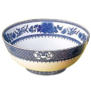 Mottahedeh Imperial Blue Round Salad Bowl 9 In