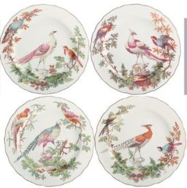 Mottahedeh Chelsea Bird Dessert Plate Set Of 4