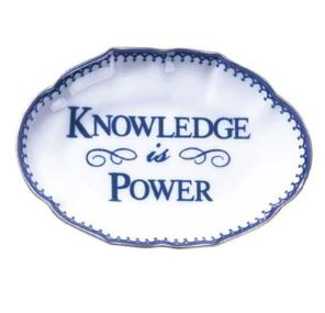 Mottahedeh Knowledge Is Power Ring Vesre Tray