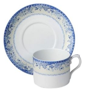 Mottahedeh Virginia Blue Cup And Saucer