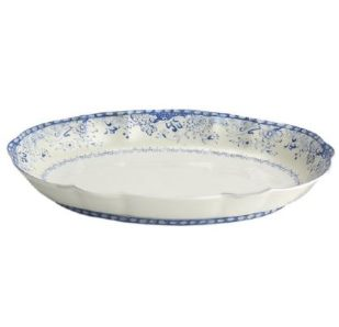 Mottahedeh Virginia Blue Serving Oval Dish