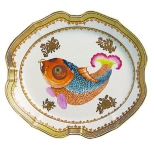Mottahedeh Dallas Museum Small Carp Platter, 10.5 In