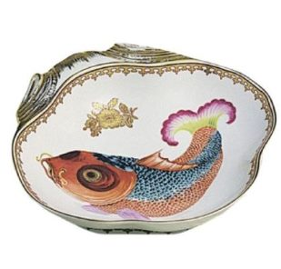Mottahedeh Carp Shell Dish, 8X8 In