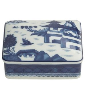 Mottahedeh Blue Canton Rect. Box Medium