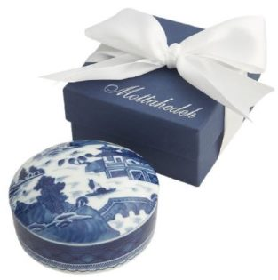 Mottahedeh Blue Canton Med Round Box/With Gift Box