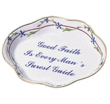 Mottahedeh Cornflower Small Lobed Tray Good Faith Verse