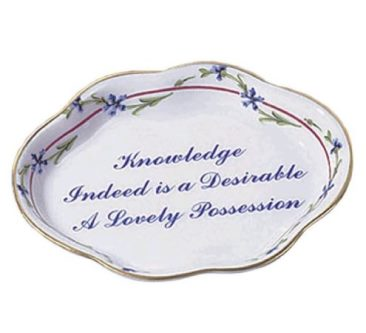 Mottahedeh Cornflower Small Lobed Tray Knowledge Verse