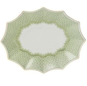 Mottahedeh Apple Lace Med Fluted Tray