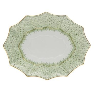 Mottahedeh Apple Lace Lg Fluted Tray
