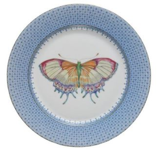 Mottahedeh Cornflower Blue Lace Dessert Plate With Center