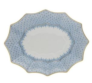 Mottahedeh Cornflower Blue Lace Med Fluted Tray