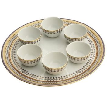 Mottahedeh Chinoise Blue Seder Plate Set