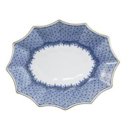 Mottahedeh Blue Lace Small Fluted Tray