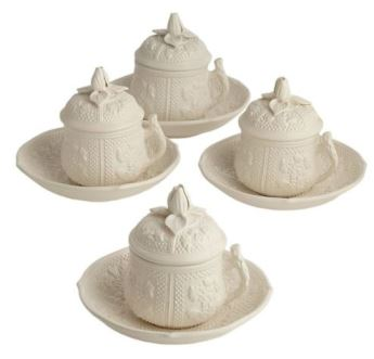 Mottahedeh Saucers For Pot De Creme Set Of 4