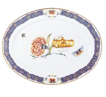 Mottahedeh Merian Sm Platter W/Flower Center