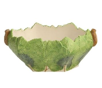 Mottahedeh Grape Leaf Bowl (Dark Green)