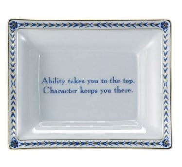Mottahedeh Ring Tray Square Ability....Blue And Gold