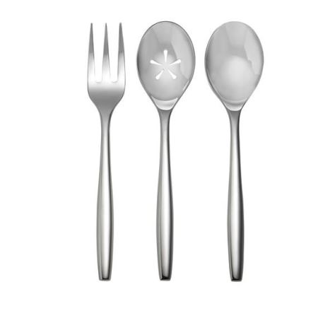 Nambe Aidan 3-Piece Hostess Set 18/10 Stainless Steel