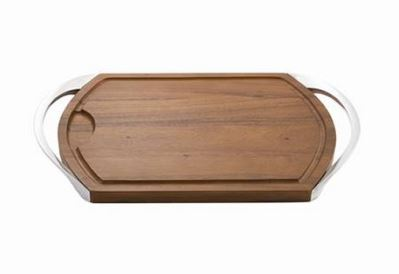 Nambe Carve & Serve Station, Alloy, Wood, 1.8